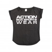 Body Action Body Action Women Loose Fit Sleeveless Top (Black)