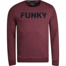 Funky Buddha Funky Buddha Ανδρική Αθλητική Μπλούζα Λαιμόκοψη (Burgundy)