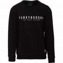 Funky Buddha Funky Buddha Ανδρική Αθλητική Μπλούζα Λαιμόκοψη (Black)