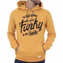 Funky Buddha Funky Buddha Ανδρική Αθλητική Μπλούζα Με Κουκούλα  (Mustard)