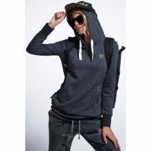 Body Action Body Action Women Long Hoodie (Black)
