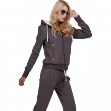 Body Action Body Action Women Fur Lined Hoodie (brown)