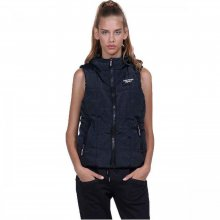Body Action Body Action Women Hooded Quilted Vest (black)