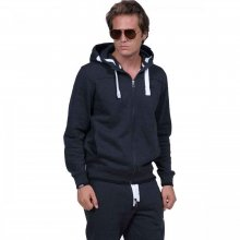 Body Action Body Action Men Full-Zip Sweatshirt (black)