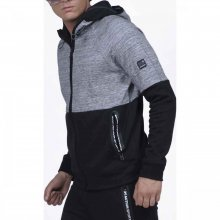 Body Action Body Action Men Gym Tech Zip Hoodie (grey mel)