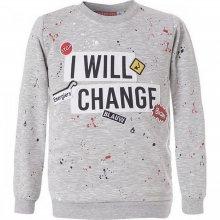 "ENERGIERS ENERGIERS Μπλούζα Με Τύπωμα ""I Will Change"" Και Διακοσμητικά Σήματα (Μελανζέ)"