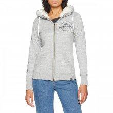 Superdry Superdry Aria Applique Ziphood (State Grey Marl)