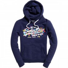 Superdry Superdry Vintage Logo Puff Embrdry Hood (princedom blue marl)