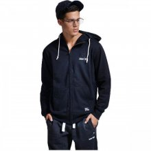 Body Action Body Action Men Fleece Full-Zip Sweatshirt (BLACK)