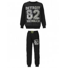 """ENERGIERS Energiers Φόρμα Παντελόνι Και Μπλούζα Με Τύπωμα """"Detroit"""" (μαυρο)"""