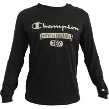 Champion Champion Long Sleeve Crewneck T-Shirt μπλούζα μαύρη