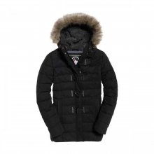 Superdry Superdry Microfibre Tall Toggle Parka (black)