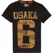 Superdry Superdry Osaka Metalic Tee (black grit)