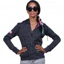 Body Action Body Action WomenThick Fleece Zip Hoodie (Black)