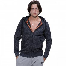 Body Action Body Action Men Thick Fleece Zip Hoodie (Black)