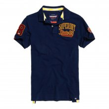 Superdry Superdry Classic Superstate Pique Polo (Sport Navy)