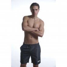 Body Action Body Action Men Mid-Length Swim Shorts (Black)