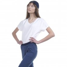 Body Action Body Action Women Oversized S/S Top (White)
