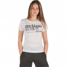 Body Action Body Action Women Logo Burnout T-Shirt (White)