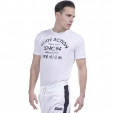 Body Action Body Action Men Round Neck T-Shirt (White)