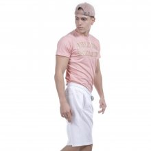 Body Action Body Action Men Perforated Logo T-Shirt  (L.Pink)