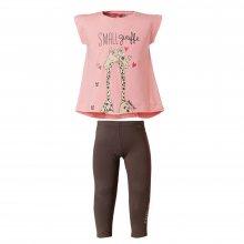 ENERGIERS Energiers Σετ Κορίτσι Μπεμπέ κολάν μακρύ και μπλούζα τύπωμα (Ροζ-Ανθρακί)