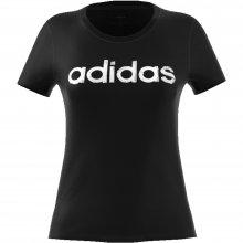adidas Core ADIDAS W LINEAR TEE 1 BLACK/WHITE