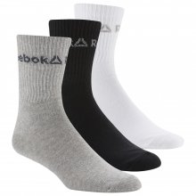 Reebok  REEBOK ACT CORE CREW SOCK WHITE/BLACK/MGREYH