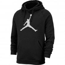 Jordan Jordan Jumpman Logo Men's Fleece Pullover Hoodie BLACK