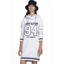 Body Action BODY ACTION WOMEN SLOUCH HOOD DRESS - WHITE
