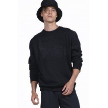 Body Action BODY ACTION MEN CREW NECK SWEATSHIRT - BLACK