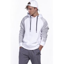 Body Action BODY ACTION MEN GYM HOODIE - WΗΙΤΕ