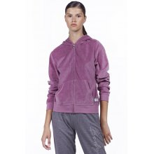 Body Action BODY ACTION WOMEN VELOUR HOODIE JACKET - L.ΡURΡLΕ