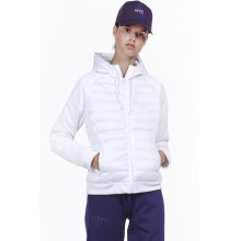 Body Action BODY ACTION WOMEN PADDED SLIM JACKET WITH HOODIE - WHITE