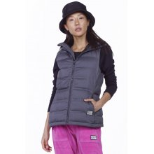 Body Action BODY ACTION WOMEN WINTER VEST WITH HOODIE - BLACK
