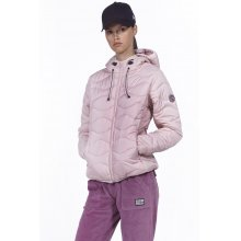 Body Action BODY ACTION WOMEN QUILT PADDED JACKET WITH HOODIE - SKIN