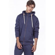 Body Action BODY ACTION MEN HOODED SWEAT JACKET - D.BLUE