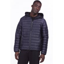 Body Action BODY ACTION MEN QUILT PADDED JACKET WITH HOODIE - BLACK