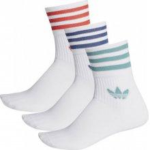 adidas Originals ADIDAS MID CUT CRW SCK WHITE/WHITE/WHITE