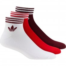 adidas Originals ADIDAS TREF ANK SCK HC WHITE/RED/CBURGU