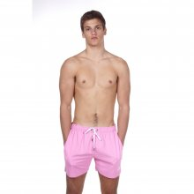 Body Action BODY ACTION MEN MID-LENGTH SWIM SHORTS - PINK