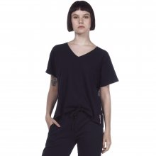 Body Action BODY ACTION WOMEN OVERSIZED S/S TOP - BLACK