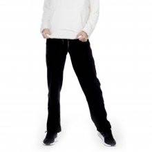 Body Action BODY ACTION WOMEN BASIC VELOUR PANTS - BLACK