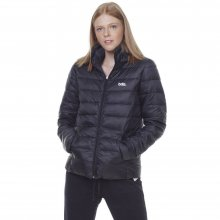 Body Action BODY ACTION WOMEN PUFFER JACKET WITH HOOD - BLACK