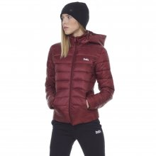 Body Action BODY ACTION WOMEN PUFFER JACKET WITH HOOD - D.MAROON