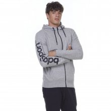 Body Action BODY ACTION MEN SPORT ZIP HOODIE - L.MEL.GREY