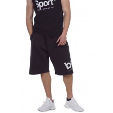 Body Action BODY ACTION MEN'S LOOSE FIT BERMUDA SHORTS BLACK