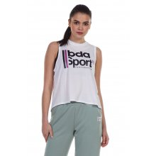 Body Action BODY ACTION WOMEN'S LOOSE FIT TANK WHITE