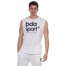 Body Action BODY ACTION MEN'S TRAINING VEST TOP WHITE