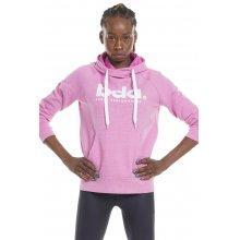 Body Action BODY ACTION WOMEN'S FLEECE SPORTSTYLE HOODIE (PINK)